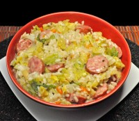 Sausage, Cabbage Risotto