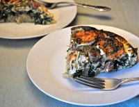 Sausage, Spinach and Goat Cheese Quiche