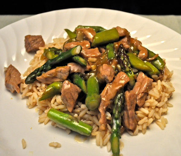 Stir-Fried Beef and Asparagus