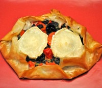 Goat Cheese, Pimiento and Spinach Tart