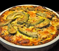 Chicken, Avocado Quiche
