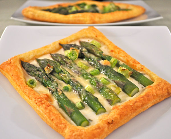 Asparagus, Green Garlic Pastries