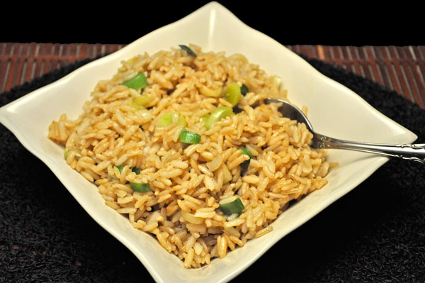 Fried Rice with Green Garlic