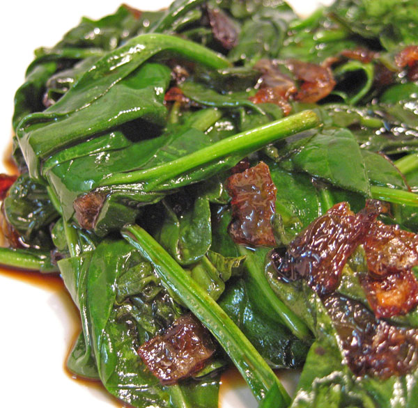 Sautéed Spinach with Browned Shallots