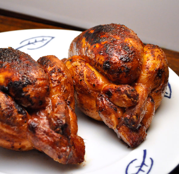 Grilled Cornish Hens with Fresh Herbs