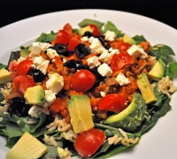 Spinach Taco Salad
