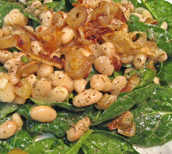 Spinach and White Bean Salad