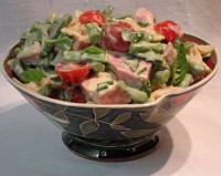 Ham, Green Bean and Tomato Pasta Salad