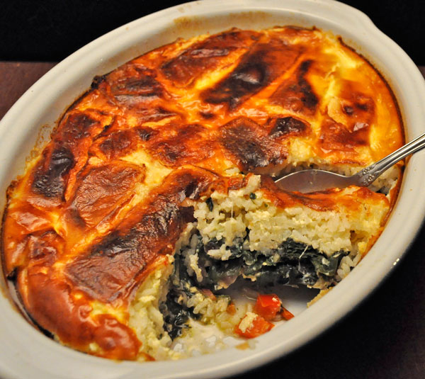 Basmati Rice and Chard Gratin