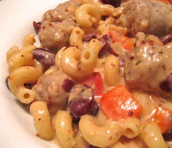 Pasta with Sausage and Mustard
