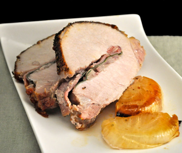 Roast Pork on a Bed of Onions