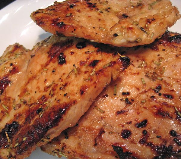 Turkey Cutlets with Soy Mustard Marinade
