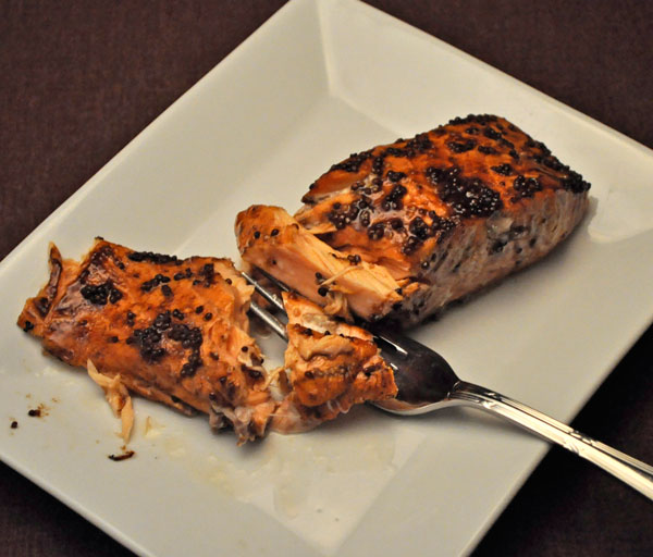 Balsamic Glazed Salmon; Secret Recipe Club