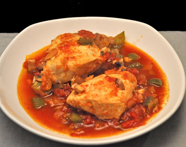 Skillet Chicken with Peppers