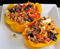 Stuffed Peppers with Beef and Orzo