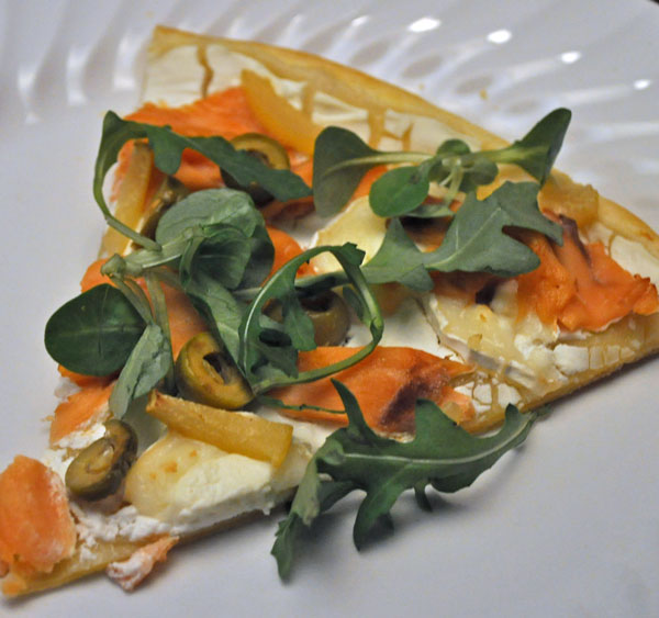 White Pizza with Smoked Salmon