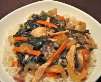 Stir-Fried Turkey & Chard
