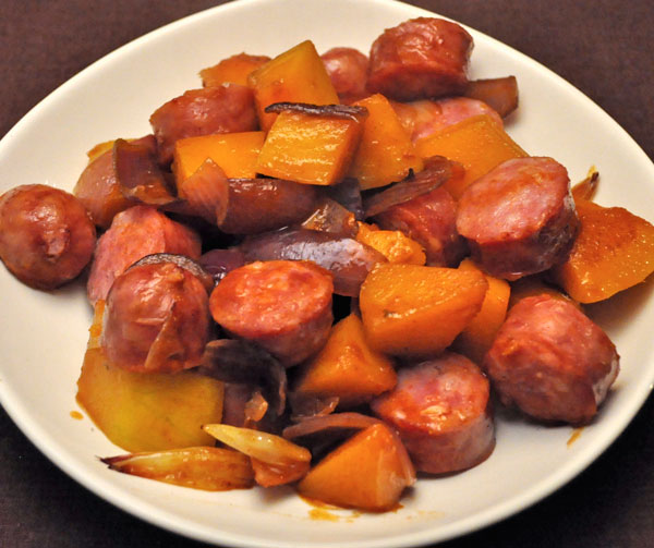 Skillet Sausage and Butternut Squash