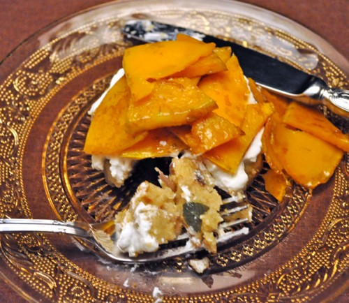 Butternut Squash and Goat Cheese Polents Stacks