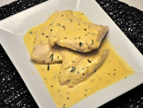 Turkey Cutlets with Mustard Sauce