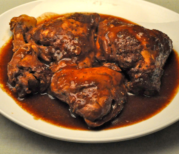 Slow Cooker Barbecued Chicken