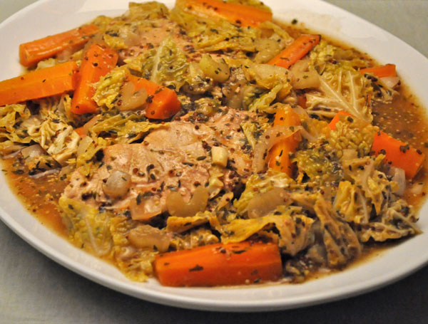 Slow Cooker Pork Chops and Cabbage