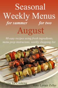 Weekly Menus for August