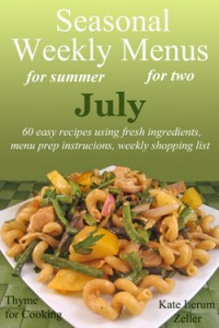 Weekly Menus for July