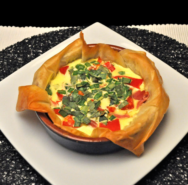 Pimiento Goat Cheese Custard