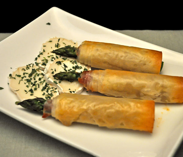 Asparagus Wrapped in Phyllo