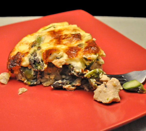 Chicken and Asparagus Quiche