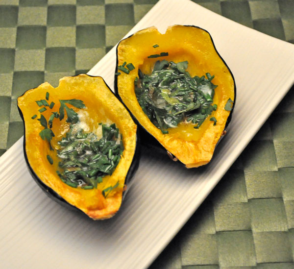 Roasted Acorn Squash with Fresh Herbs