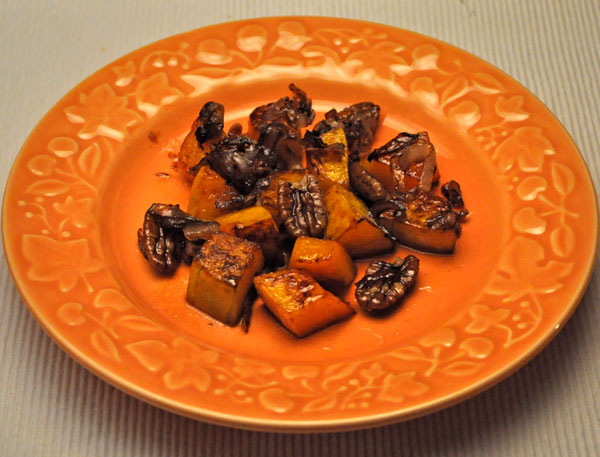 Butternut Squash, Shallots and Pecans