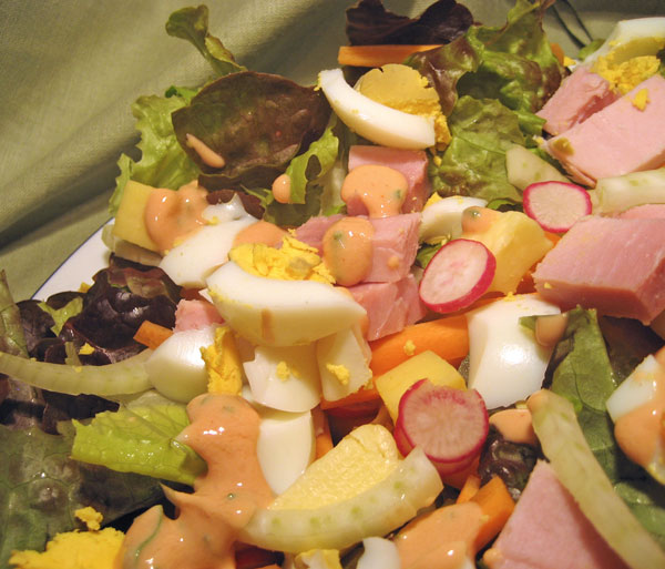Garden Salad, Thousand Island Dressing; Memories