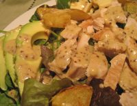 Salad with Turkey, Avocado and Potatoes