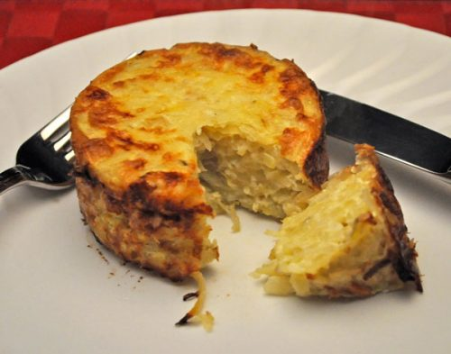 Potato Shallot Timbale