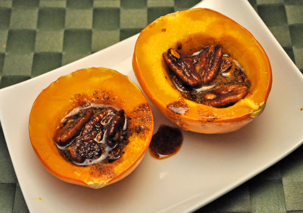 Acorn Squash with Spiced Pecans