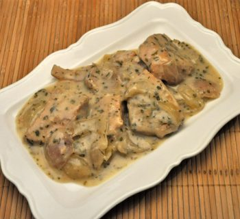 Pork Chops with Horseradish, slow cooker