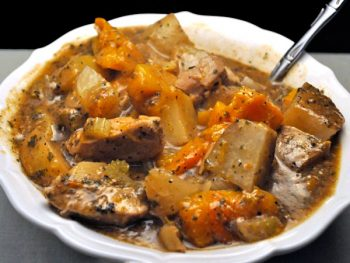 Slow Cooker Pork and Butternut Squash Stew
