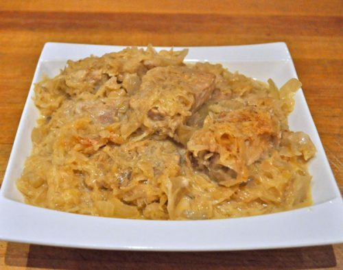 Slow Cooker Pork and Kraut