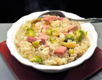 Risotto with Ham and Brussels Sprouts