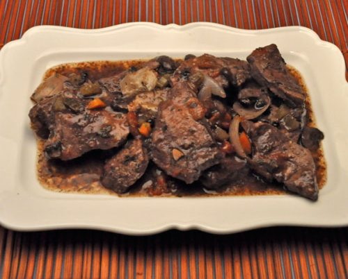 Venison in Red Wine, Slow Cooker