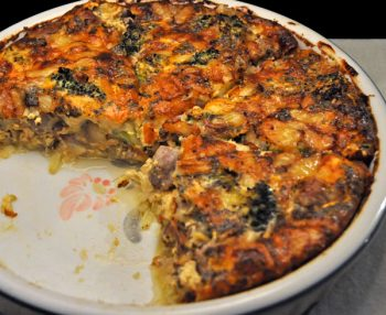 Sausage & Broccoli Quiche
