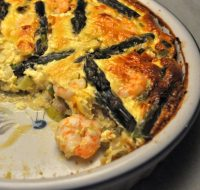 Shrimp and Asparagus Quiche