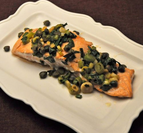 Pan-Fried Salmon with Green Garlic