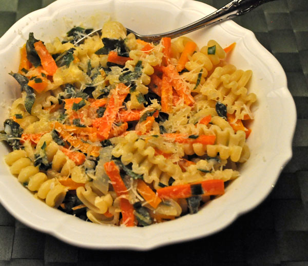 Pasta with Carrots and Sage