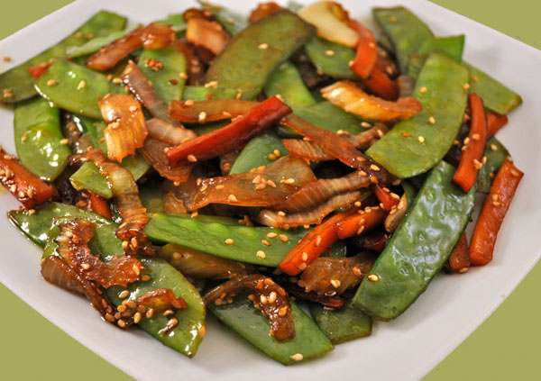 Stir-Fried Snow Peas & Carrots