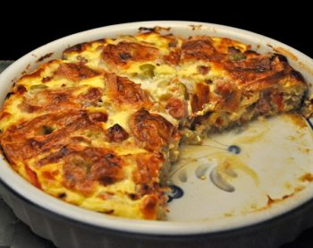 Sausage and Tomato Quiche