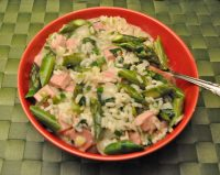 Asparagus and Ham Risotto