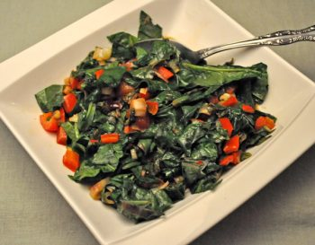 Sauteed Spinach & Red Pepper